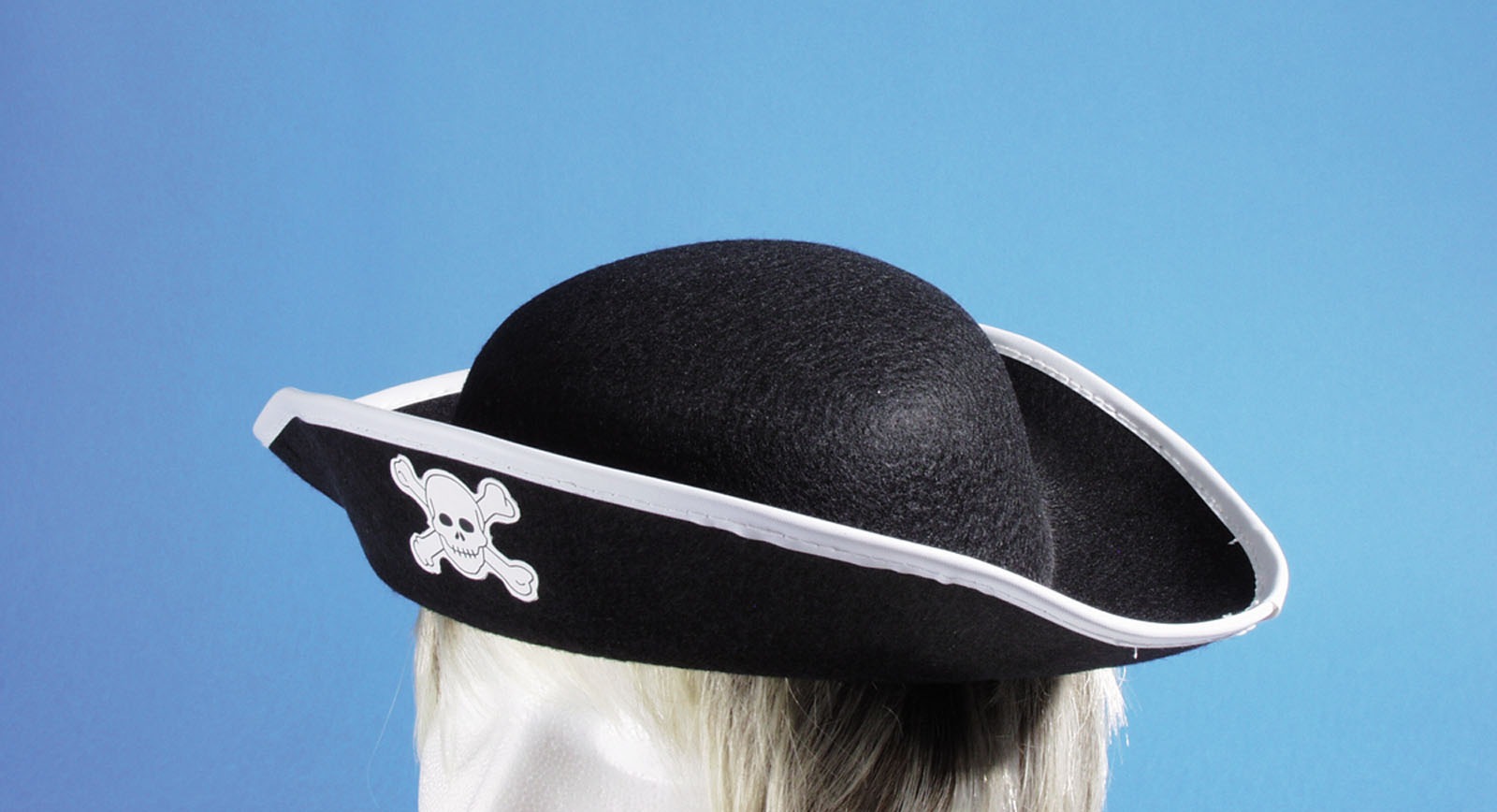 Star Power Pirate Skull and Crossbones Costume Hat, Black, One Size by Loftus International
