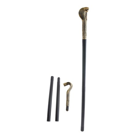 Funny Fashion Pharaoh Egyptian Cobra Halloween Cane, Gold Black, 32