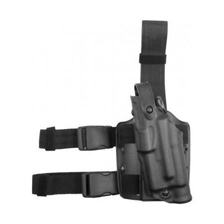 SAFARILAND ALS Tactical Leg Holster Feature: Hood Guard Finish: STX Tactical Black Gun Fit: Glock 17 with LasTac2 (4.5