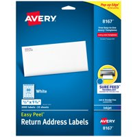 "Avery Easy Peel Return Address Labels, 1/2""x1-3/4"" 2,000 Labels (8167)"