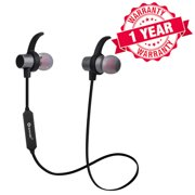 Woozik M730 Wireless Magnetic Stereo Lightweight Earbuds, with Noise Cancelling Mic and Volume Control, Ergonomic Sport Fit, Great for Gym, Workout, and More!