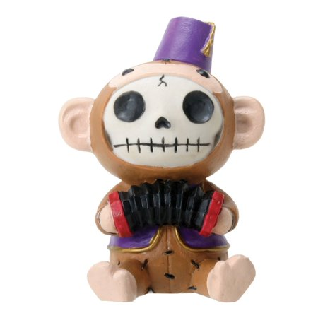 Furrybones Sitting Fez Munky Skull Face in Purple Jacket and Hat, Perfect gift for those that love Furry Bones By YTC