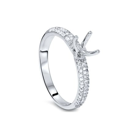 d689861c2571c 3/8ct Pave Diamond Engagement Ring Setting White Gold
