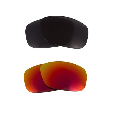 64c2cc0b9a9 Seek Optics - Square Wire (2006) Replacement Lenses Grey   Ruby Red by SEEK  fits OAKLEY - Walmart.com
