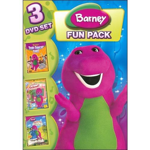 Barney: Fun Pack - 3 DVD Set: Barney's Dino Dancin' Tunes / Let's Play School! / Rhyme Time Rhythm (Full Frame)