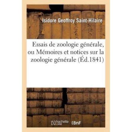 Essais De Zoologie Generale  Ou Memoires Et Notices Sur La Zoologie Generale  L Anthropologie