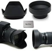 67MM Lens Hood Kit includes 67mm Hard Lens Hood and 67mm Soft Lens Hood for 67MM Lenses and Cameras