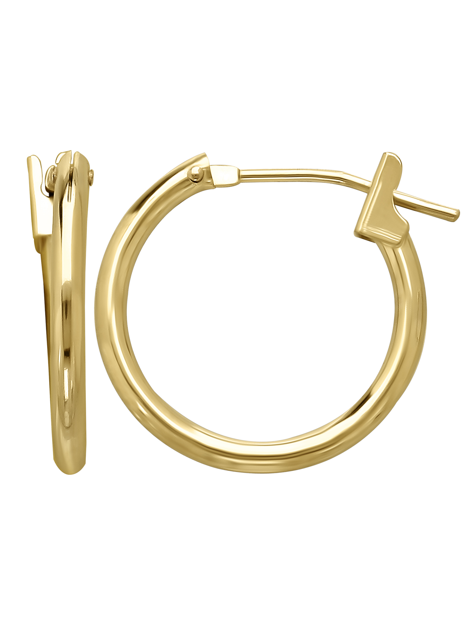 Simply Gold™ 14K Yellow Gold 1.5mm x 15mm Hoop Earrings