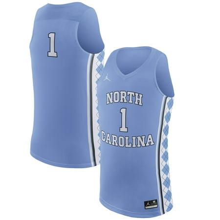 #1 North Carolina Tar Heels Nike Replica Basketball Jersey - Light Blue