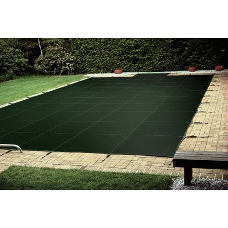 - 18X36 Rectangle + 4X8 1' Right Offset Steps Loop-Loc Green Ultra Loc 2 Solid Safety Cover with Drain