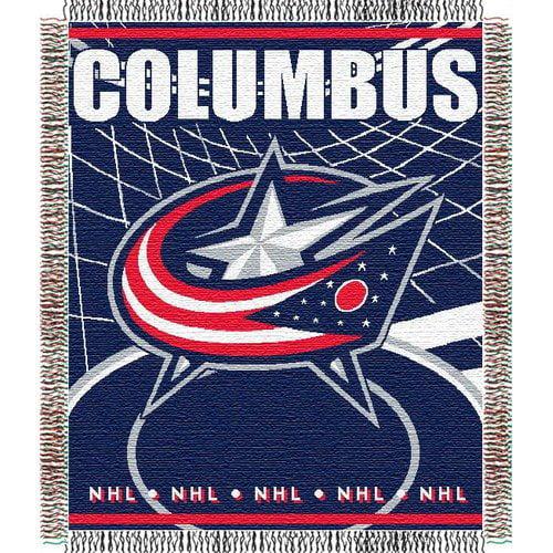 Northwest Co. DO NOT SET LIVE! NHL Triple Woven Jacquard Throw - Columbus Blue Jackets