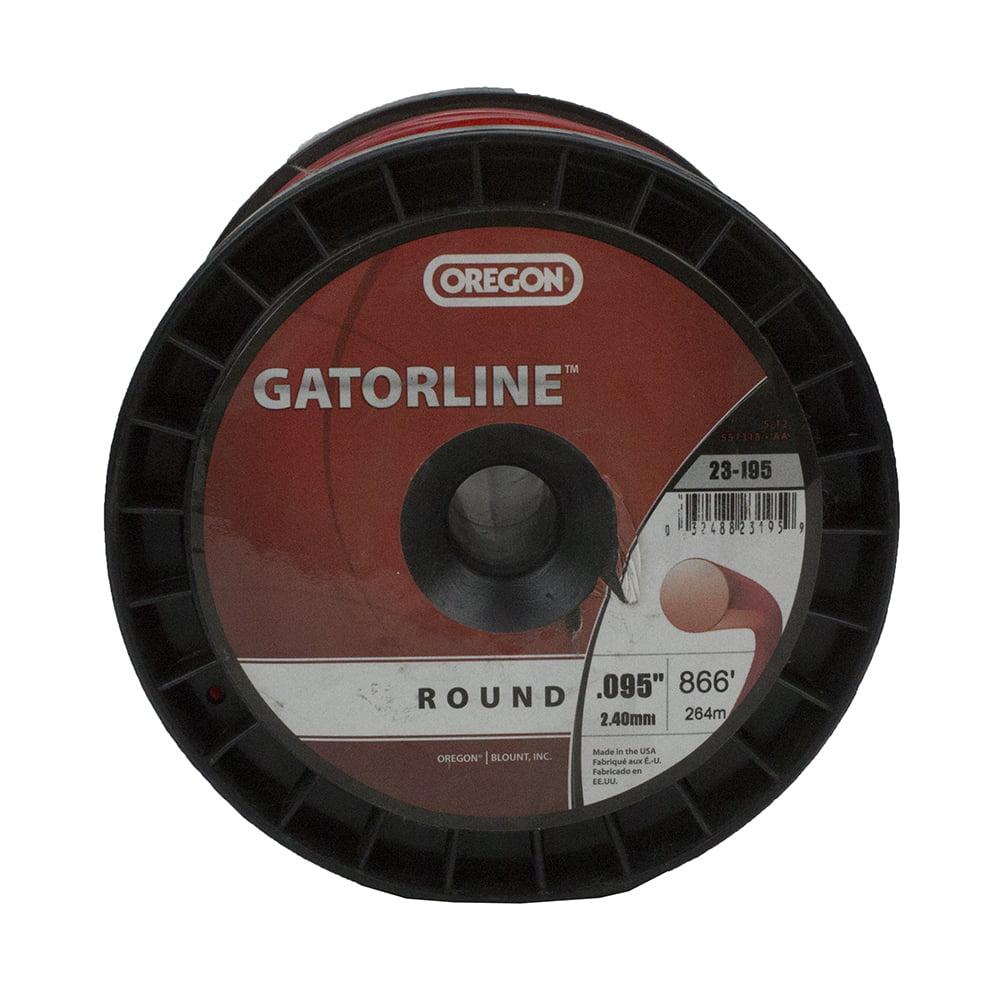 "Oregon Gatorline Red Round Trimmer Weed Whacker Line .095"" Gauge 3 LB Commercial Grade 867' Spool"