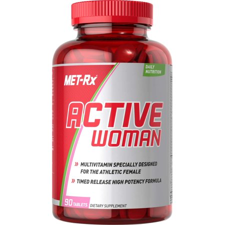 - MET-Rx Active Woman Multivitamin Dietary Supplement Tablets, 90 Count