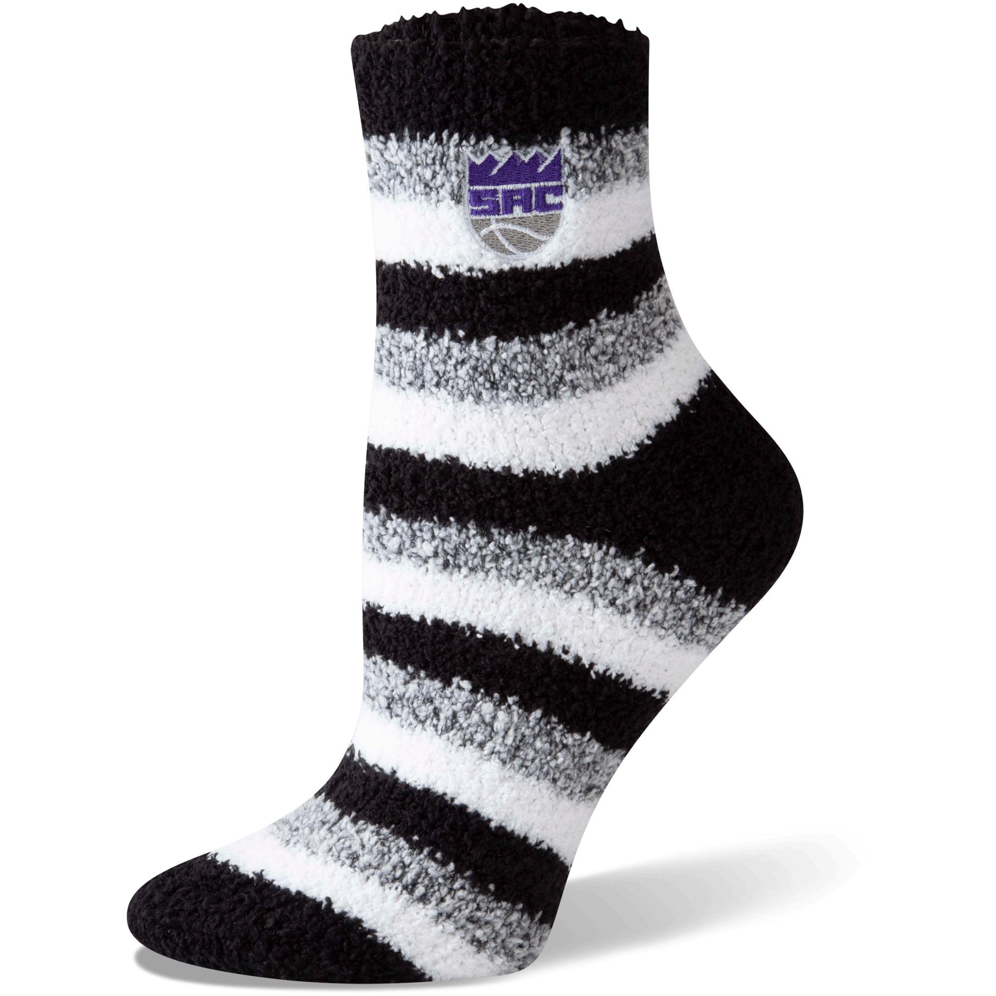 Sacramento Kings Women's Fuzzy Steps Quarter-Length Socks - M
