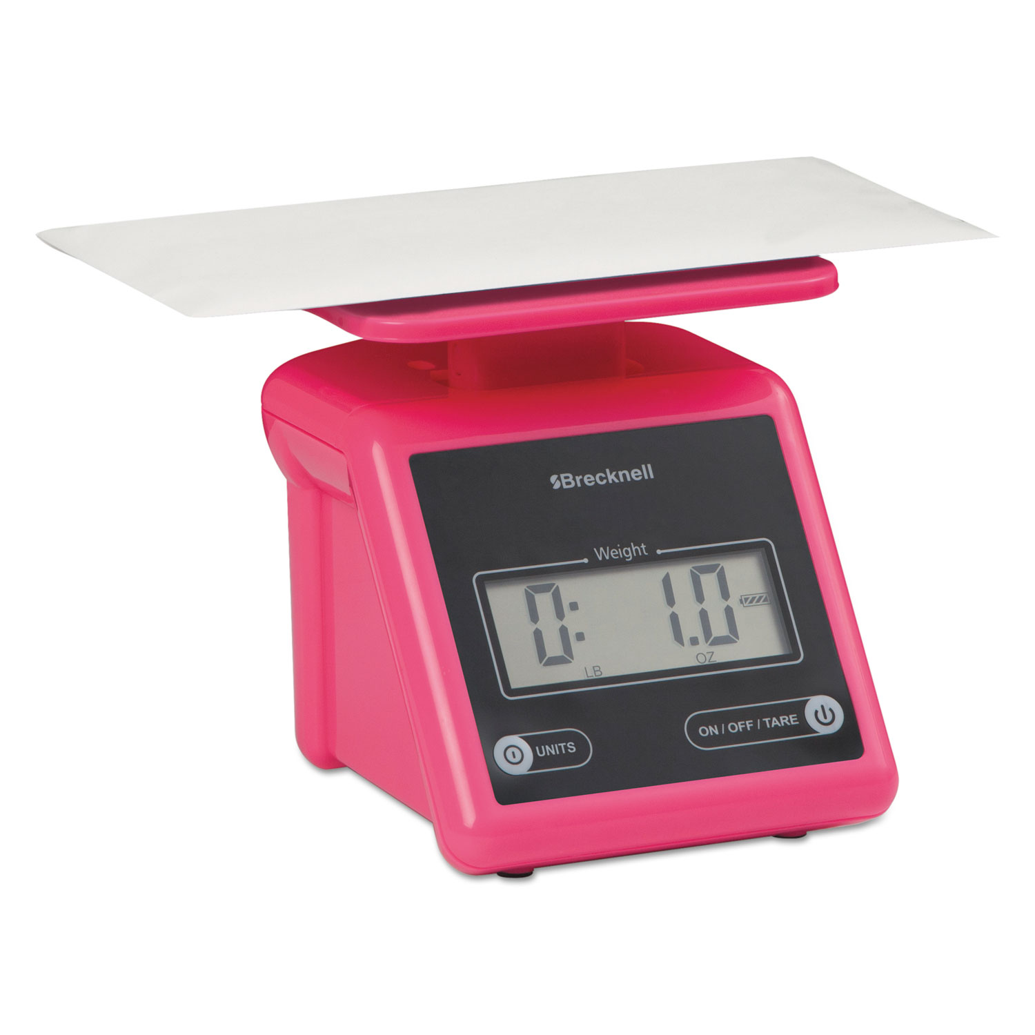 Electronic Postal Scale, 7 lb Capacity, 5 1 2 x 5 1 5 Platform, Pink by Avery Weigh-Tronix