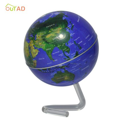 """4"""" Self-Rotating Geography World Globe World Map Ornaments Home Office Decor blue - image 5 of 8"""