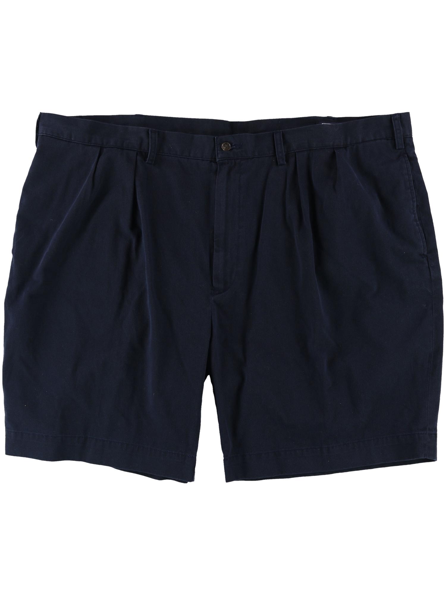 Ralph Lauren Mens Ethan Pleated Casual Chino Shorts adiw 46 Big - Big & Tall