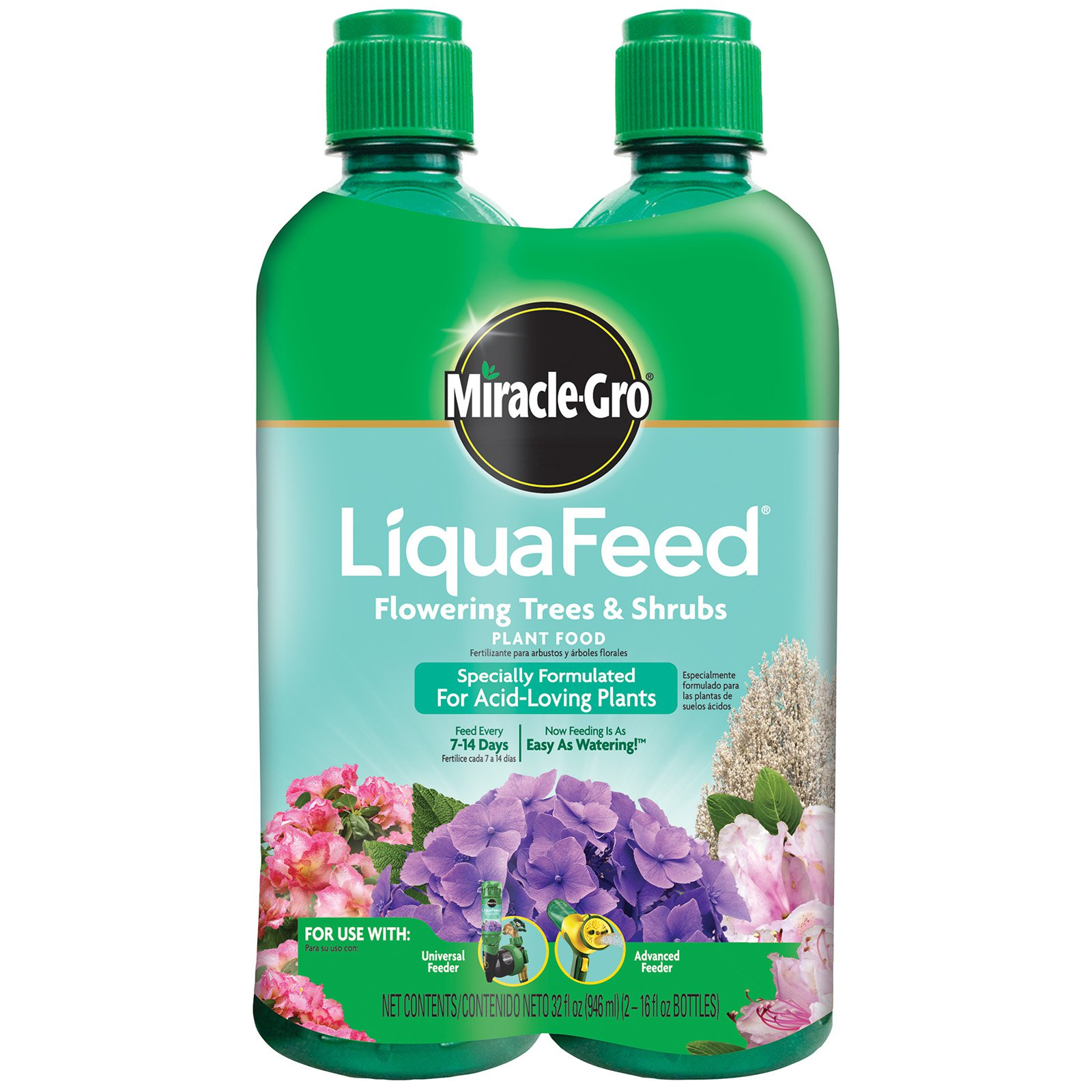 Miracle Gro 16 oz. LiquaFeed Flowering Trees & Scrubs Plant Food - 2 Pack