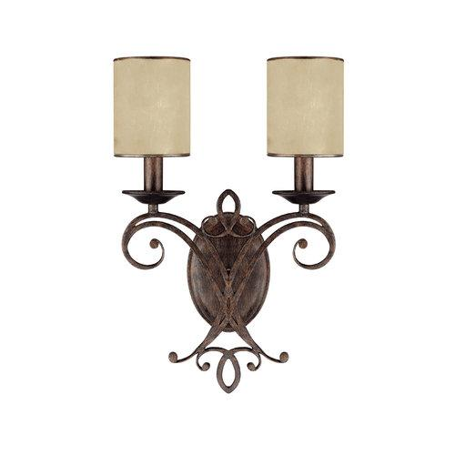Capital Lighting 1116RT-510 2 Light Wall Sconce from the Reserve Collection, Rustic