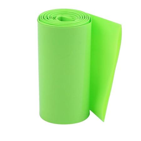 85mm Flat Width 2M Length PVC Heat Shrink Tube Green for 18650 Battery Pack - Green Flats
