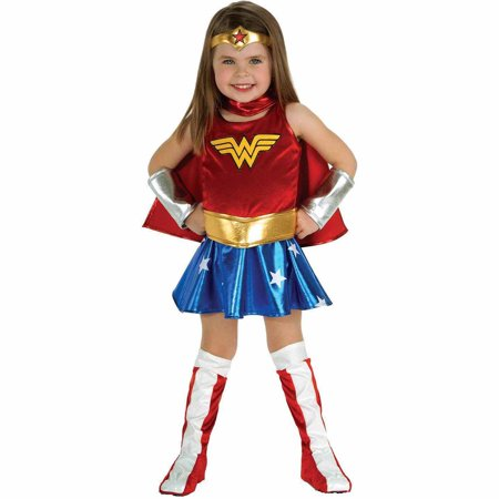 Wonder Woman Toddler Halloween Costume, Size 3T-4T (Halloween Costume Peter Pan Toddler)