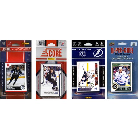 C&I Collectables NHL Tampa Bay Lightning 4 Different Licensed Trading Card Team