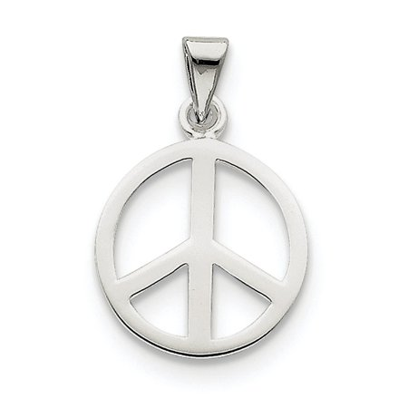 925 Sterling Silver Peace Sign Pendant Charm Necklace Gifts For Women For -
