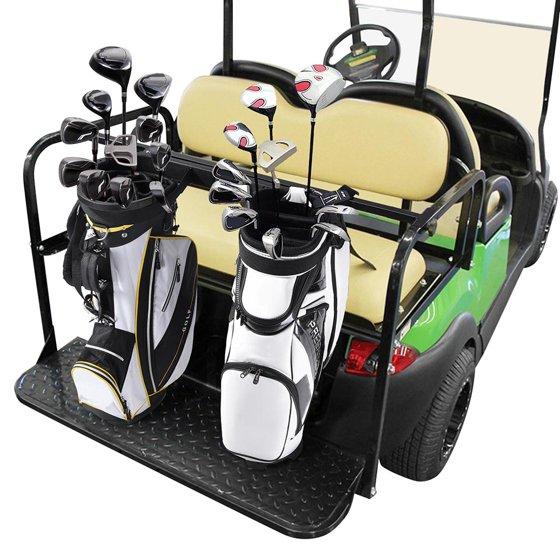 ea8d8e2010b5 Universal Golf Bag Attachment Golf Bag Holder Bracket Rack for Golf Cart  Rear Seat Black