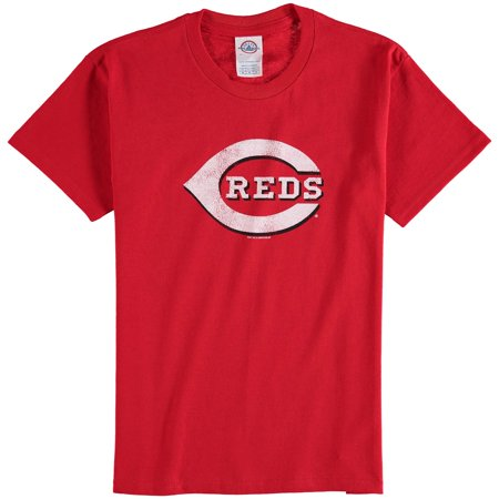 Cincinnati Reds Youth Distressed Logo T-Shirt - Red