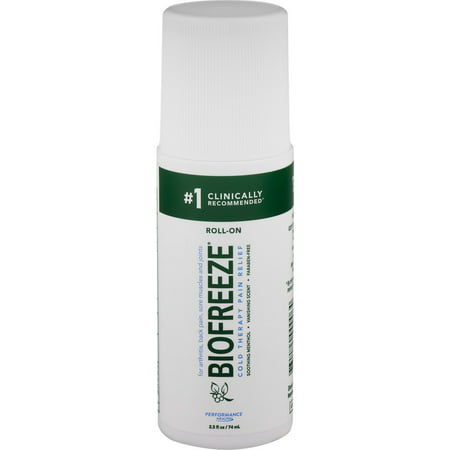 2 Pack - Biofreeze Cold Therapy Pain Relief Roll-On 2.5 oz Cold Pain Relief Pack