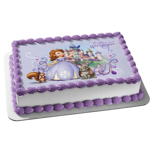 Peachy Sofia The First Princess Castle Disney Whatnaught Clover Edible Personalised Birthday Cards Cominlily Jamesorg
