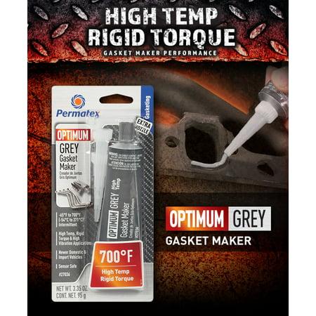 Permatex Optimum Grey RTV Silicone Gasket Maker 3.35 oz, 1 Pack - - Silicon Gasket