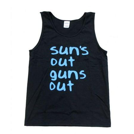 22 Jump Street Sun's Out Guns Out Black Tank Top