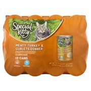 Special Kitty Classic Pate Meaty Turkey & Giblets Dinner Wet Cat Food, 13 Oz, 12 Ct