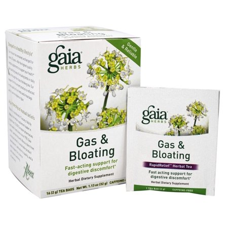 Gaia Herbs - Gas & Bloating Herbal Dietary Tea - 16 Tea