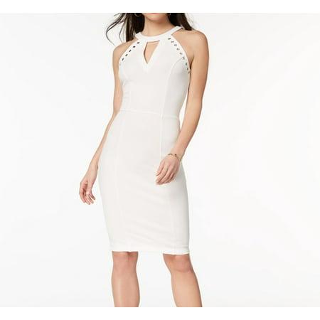 5ce2f7cd17ff6 XOXO Dresses - XOXO Cloud Dancer Womens Grommet-Detail Sheath Dress -  Walmart.com