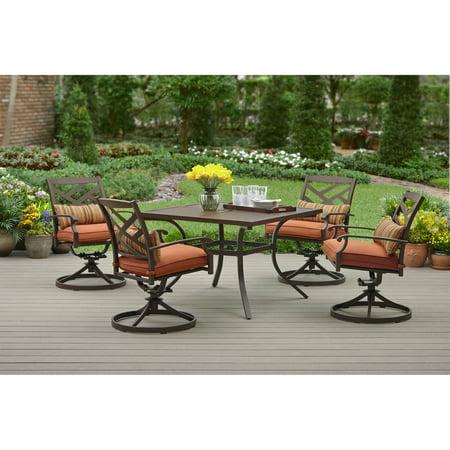 Better Homes And Gardens Azalea Ridge 5 Piece Dining Set White Seats 4 Box 2 Of 2