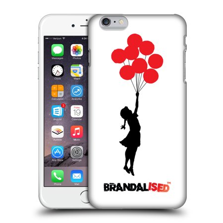 OFFICIAL BRANDALISED BANKSY RED BLACK ART HARD BACK CASE FOR APPLE IPHONE PHONES