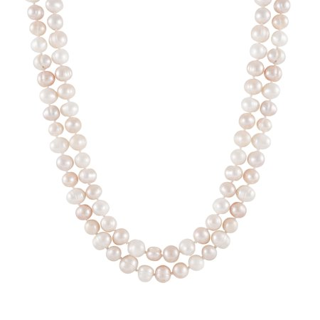 Handpicked A Quality 7-8mm Multicolor Natural Pink, Peach, Lavender Freshwater Cultured Pearl Strand Endless 52