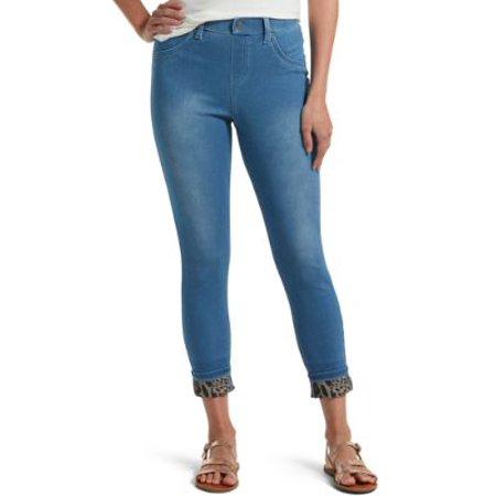 HUE Womens Print Cuff Denim Leggings Style-U21377