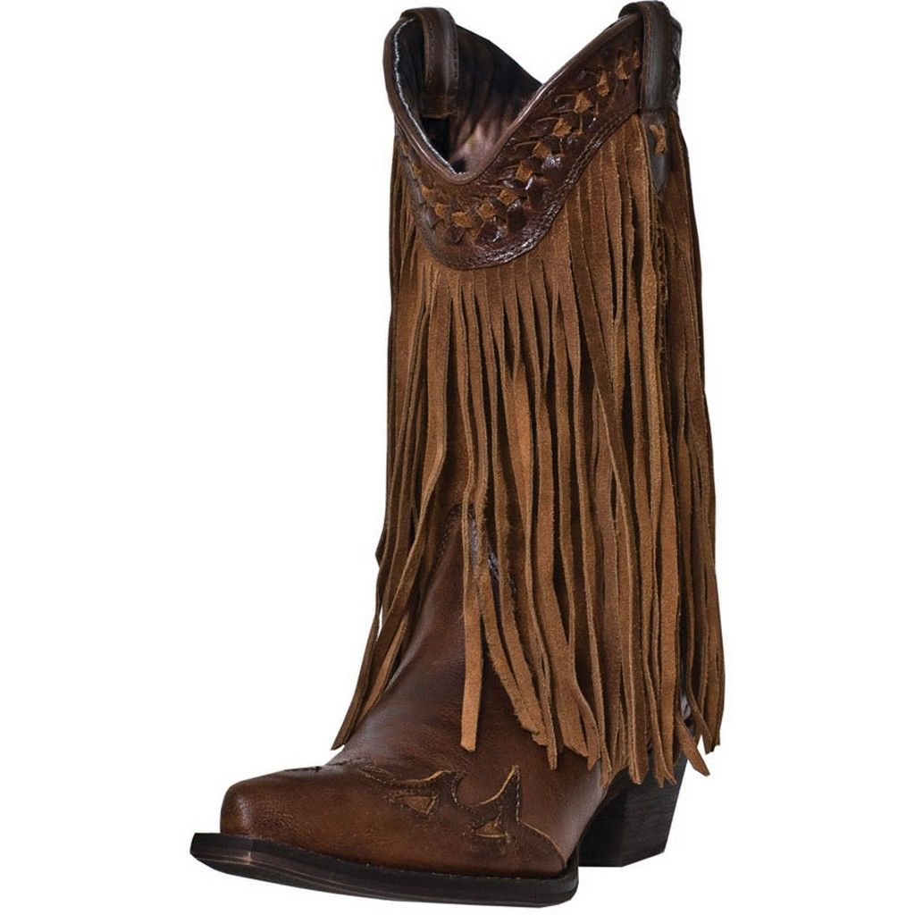 """Dingo Fashion Boots Womens Heart Throb 12"""" Shaft Leather Brown DI7445 by Dingo"""