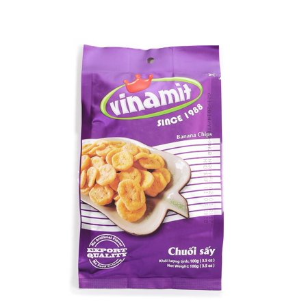 Vinamit Vietnam Banana Chips   High Quality Food   100 Gram