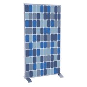 Paperflow EasyScreen Vertical Divider Screen, Blue Squares (31290)