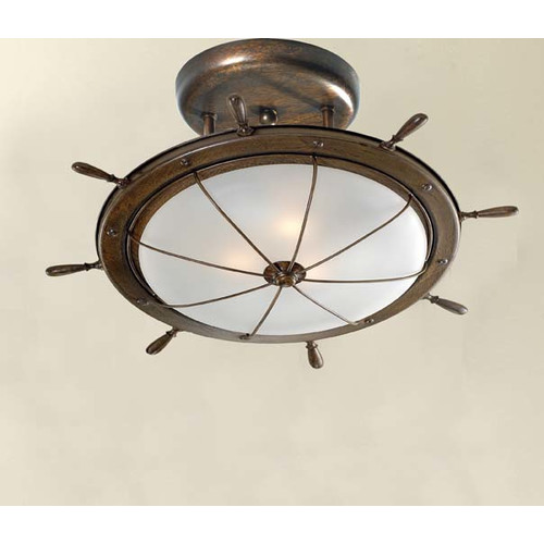 Lustrarte Lighting Nautic Leme Ceiling 1 Light Flush Mount