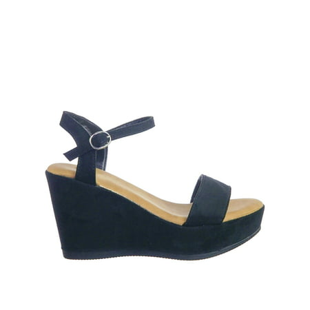 Comfort Dress Sandals - Luxy08 by Bamboo, Lightweight Comfort Low Wedge Platform Open Toe Dress Sandal