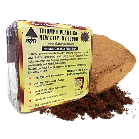 Triumph Plant Coco Coir Bricks - A Natural Additive to Potting Soil for Potted Plants & Gardens- Coconut Coir is a Sustainable Alternative to Peat Moss - Average Brick Size