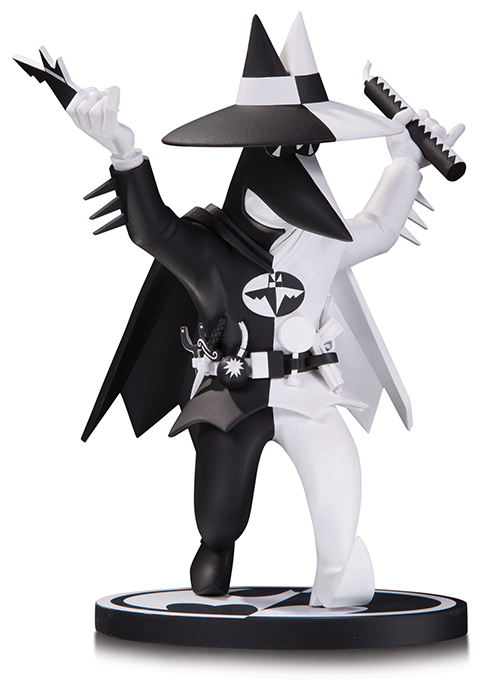 Batman Black & White 7 Inch Statue Figure Batman Spy vs Spy By Kuper by DC COMICS