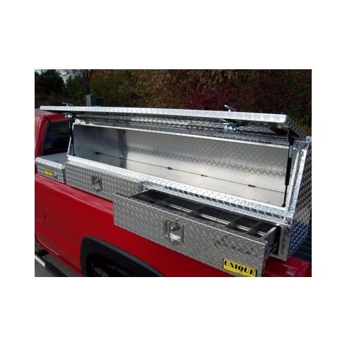 "72"" Aluminum TopMount TopRail Pickup Truck Tool Box by Unique Truck Accessories"
