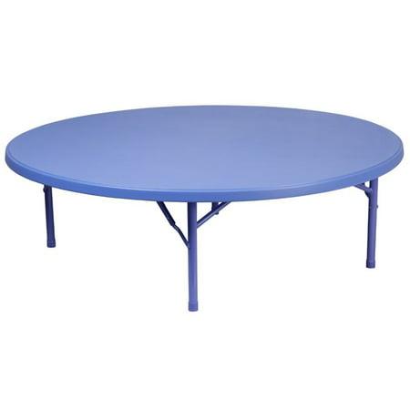 flash furniture 60 round plastic kids folding table in blue. Black Bedroom Furniture Sets. Home Design Ideas