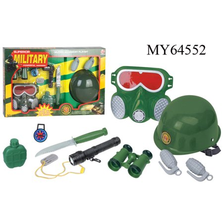 9 Pcs Firefighter Role Playing Toys Fire Extinguisher Gas Mask Firefighters Badge Set For Children Color Red